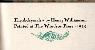 Ackymals title page