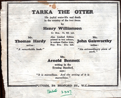 Tarka Putnam advert 2