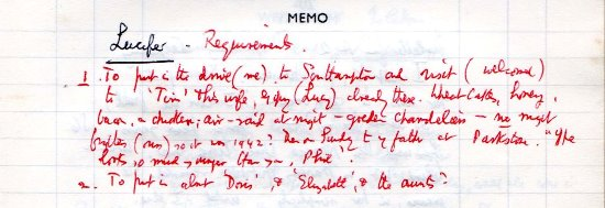 lucifer diary memo17 July 1964
