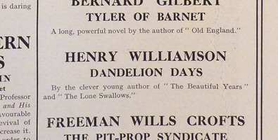 dandelion days bookman1922