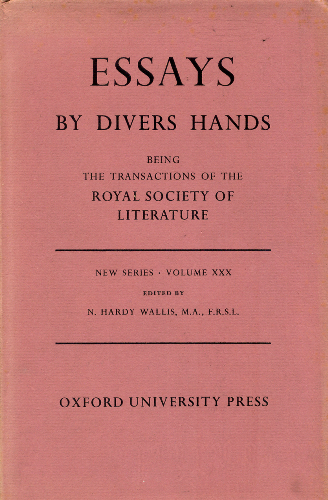 essays by divers hands Divers hands (or more rarely the phrase is still used to refer to the authorship of plays, essay collections, and short story collections by multiple authors.