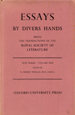 Essays by Divers Hands
