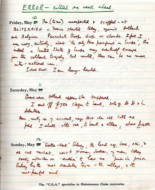 solitary diary 10 may40