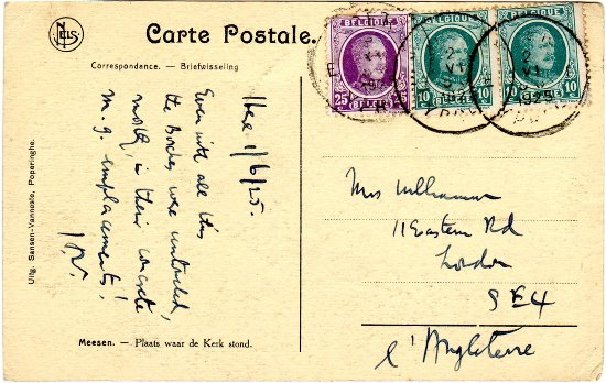 wfp postcard HW to mother reverse